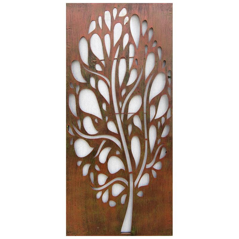 Ripe copper steel wall art decorative panel