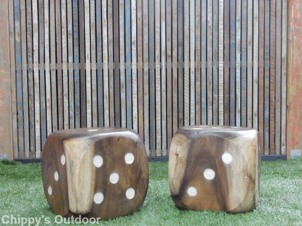 Wooden Solid Dice Stool Sekit International